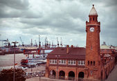 The St. Pauli Piers — Stock Photo