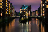 Speicherstadt in Hamburg — Stockfoto