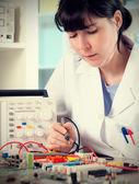 Female tech worker — Foto Stock