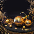 Golden Christmas decorations — Stock Photo #47930147