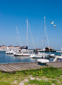 Yachts  in Northern Germany — Stock Photo