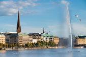Hamburg view — Stock Photo