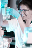 Scientist works in the lab — Stock Photo