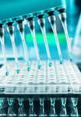 Tools for DNA amplification, scientific background — Stock Photo