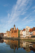 Casco antiguo de gdansk — Foto de Stock