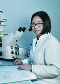 Young oriental scientist — Stock Photo