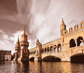 Oberbaumbridge in Berlin — Stock Photo