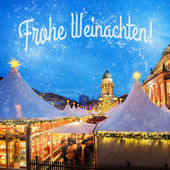 Christmas market in Berlin — Stock Photo