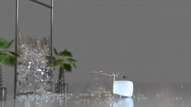 Chair Shattering Glass — Stock Video
