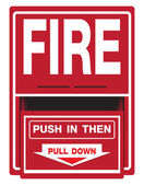 Fire Safety Signs — Stock Vector