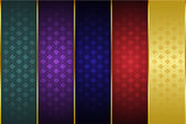 Thai Art Scroll Thai Art Pattern,  Pattern Background Vector — Stock Vector