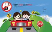 Bezpečnost jízdy znamení vektor — Wektor stockowy