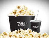 Popcon Movie food — Stock Vector