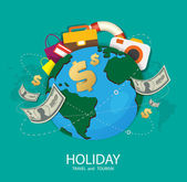 Holiday Travel and tourism — Stock Vector