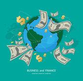 Iş ve Finans simgesi — Stok Vektör