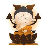 Buddha Cartoon Vector — Vecteur