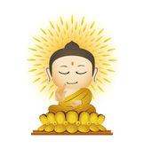 Buddha Cartoon Vector — Stock Vector