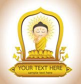 Buddha Cartoon vektor — Stockvektor