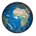 Burning globe earth and Global Warming — Stock Photo #48225021