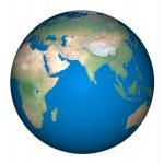 Burning globe earth and Global Warming — Stock Photo #48225023