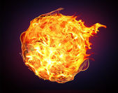 Global Warming and fire ball — Stockfoto
