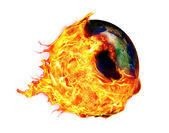Global Warming and fire ball — Zdjęcie stockowe