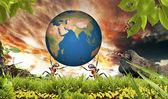 Power Ant Save the Earth - Usa, elements of this image — Stock Photo