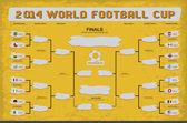 Fotbalový pohár plán — Stock vektor