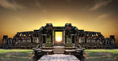 View of the historic Phimai Temple — Zdjęcie stockowe