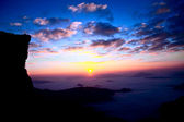 Sunrise at Phu Cheefa Park Chiangrai Thailand — 图库照片
