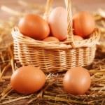 Free range eggs in hen house — Stock Photo #38804985