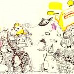 Cartoon characters illustration — Stock Photo