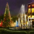 Christmas shopping, black friday,romantic place for dinner — Stok fotoğraf