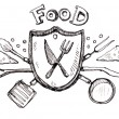 Food icon logo drawin — Stock Photo