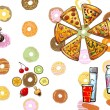 Colorful food banner illustration — Stock Photo