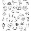 Stock Photo: Food icons hand drawn illustration