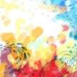 Abstract dreamy bird fly colorful background — Stock Photo #32999059