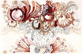 Zvířecí pozadí abstraktní ilustrace — Stock fotografie