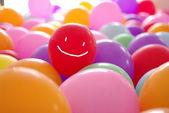 Smile happy face coloful balloon illustartion — Stock Photo
