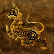 Thai mythology lion Sigha painting — 图库照片