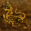 Thai mythology lion Sigha painting — Stock fotografie