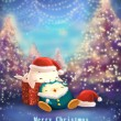 Christmas and new year greeting card — Stockfoto