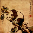 panda animale pittura cinese — Foto Stock