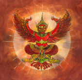 Garuda, Thai mythology eagle or bird — Photo