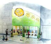 Minimart convenient store open 24-7 neighbor shop — Stock Photo