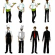 Stock Photo: Restaurant people and uniform illustration
