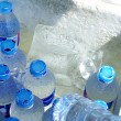 Ice water bottles — Stock Photo