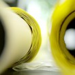 Yellow paper roll — Stock Photo #33645097