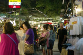 Walking street night market — Stock Photo