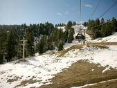 Ski life in the snow mountain — Stock Photo